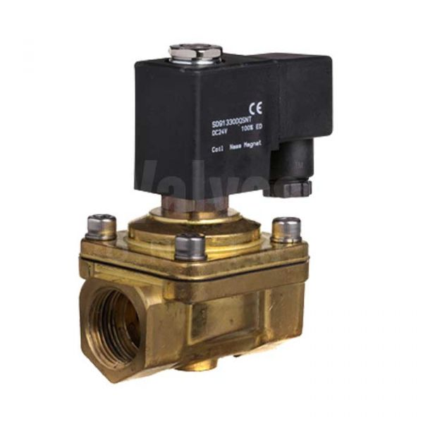 Brass Normally Open Zero Rated Solenoid Valve - 0 to 12 Bar