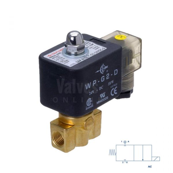 Brass Solenoid Valve Direct Acting 1/8