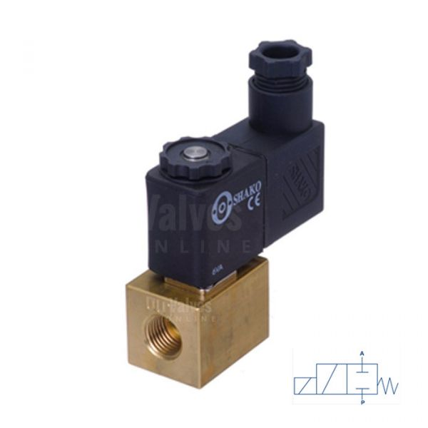 Brass Solenoid Valve Mini Direct Acting 1/8