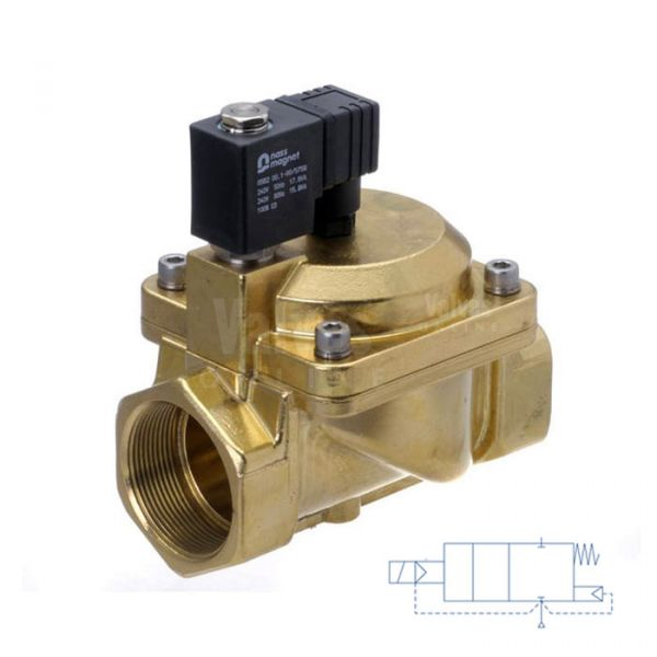 Brass Solenoid Valve Servo Assisted 3/8