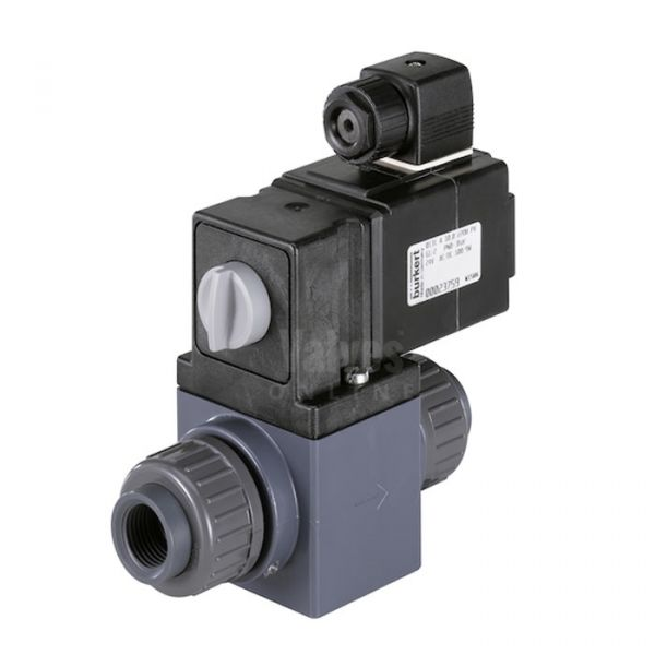Burkert Type 0131 Plastic 2/2 Way Solenoid Valve for Aggressive Fluids
