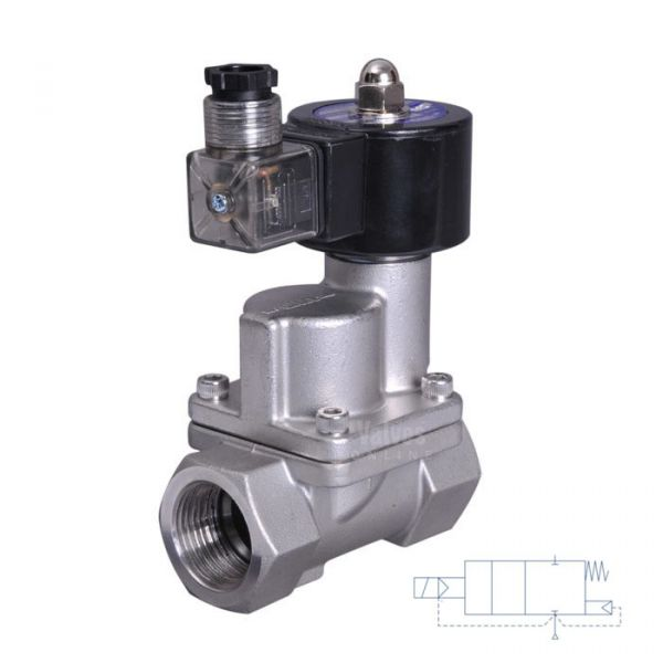 Stainless Steel Solenoid Valve 0.2-10 Bar Rated Steam Servo Assisted 1/2