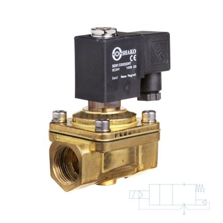 "Brass Solenoid Valve 0 Bar Rated Assisted Lift 3/8"" to 2"""