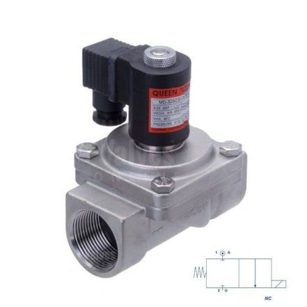 """Stainless Steel Solenoid Valve 0 Bar Rated Assisted Lift 1/2"""" to 2"""""""