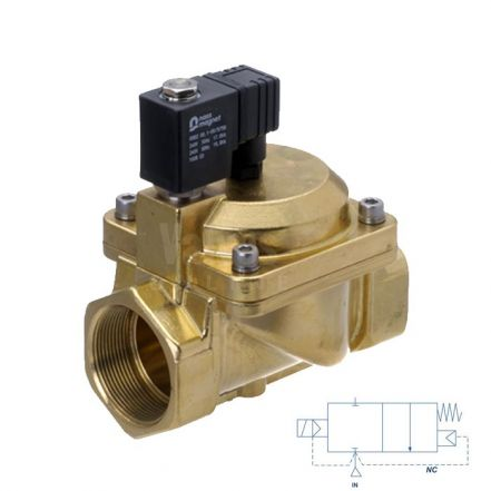 "Brass Solenoid Valve 0.5-25 Bar Rated High Pressure 3/8"" - 1"""