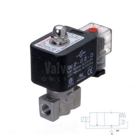 "Stainless Steel Solenoid Valve 1-100 Bar Rated High Pressure 1/8"" - 3/8"""