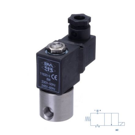 "Stainless Steel Solenoid Valve 1/8"" Mini Direct Acting"