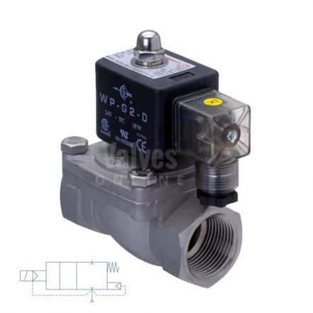 "Stainless Steel Solenoid Valve Direct Acting 1/2"" to 2"""