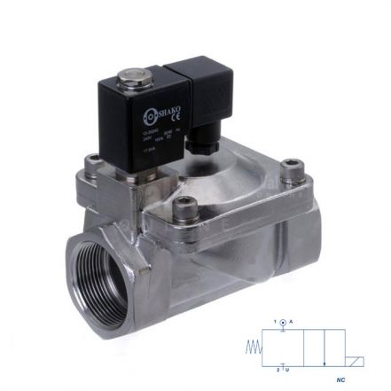 "Stainless Steel Solenoid Valve Servo Assisted 3/8"" to 2"""