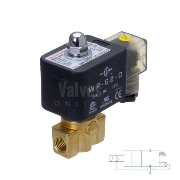 Brass Solenoid Valve 1-100 Bar Rated High Pressure 1/8