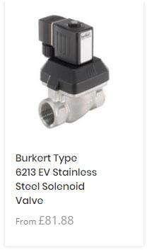 Burkert 6213 Stainless Steel Solenoid Valve