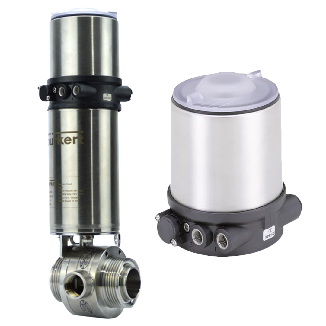 Actuated jacketed Butterfly Valve