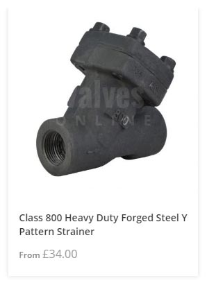 Class 800 Heavy Duty Y Pattern Strainer