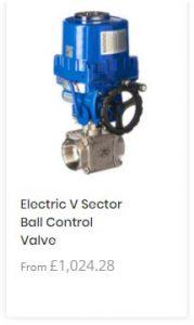 Electric V Sector Ball Control Valve