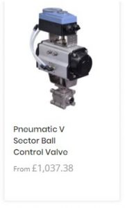 Pneumatic V Sector Ball Control Valve