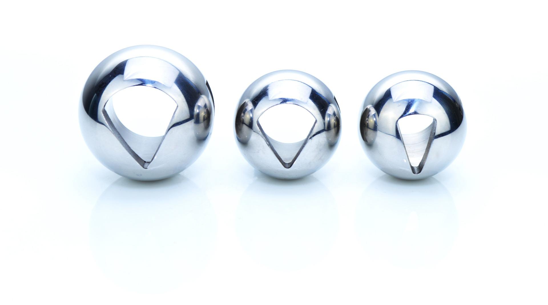V-sector balls from a ball valve